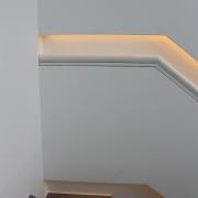 Detail eingelassener Handlauf indirekt mit LED beleuchtet