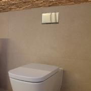Flächenbündig eingelassene WC Betätigungsplatte