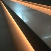 Treppenstufen mit LED Licht indirekt beleuchtet